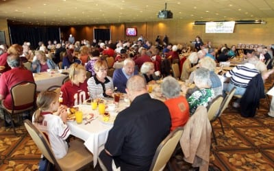 """Fun time, great cause"" at Sam Huff Charity Breakfast"
