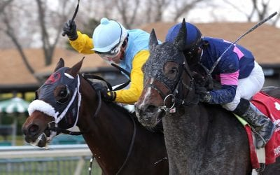 Downhill Racer takes tight Pennsylvania Nursery Stakes