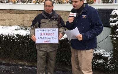 "Jeff Runco: 4000 wins because of ""good horses, good clients, good help"""