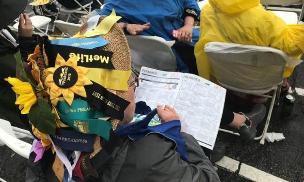 "In the stands and infield, ""the Preakness goes on"""