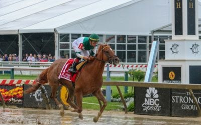 Happy Like a Fool gallops in Miss Preakness Stakes