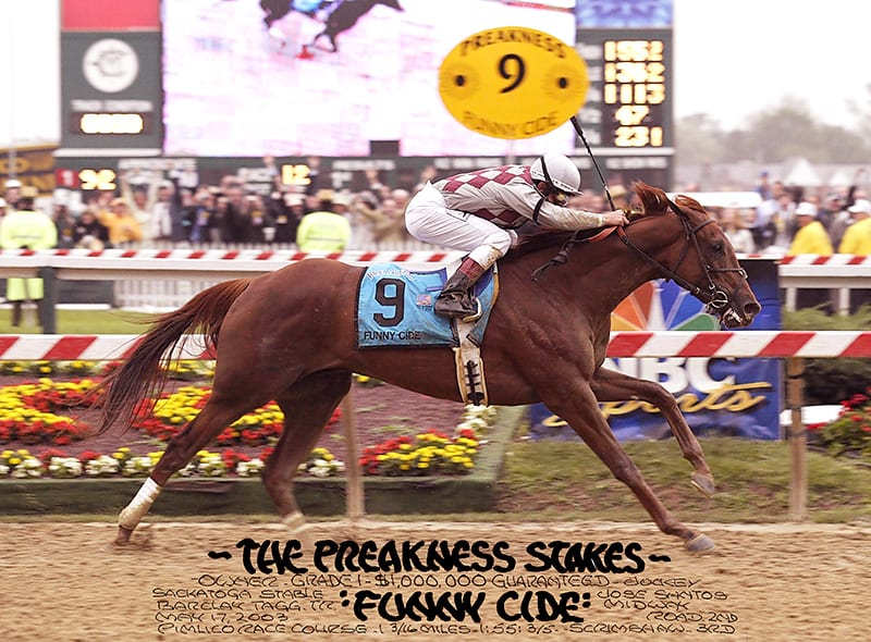 Preakness Past Funny Cide And His Merry Band The Racing Biz