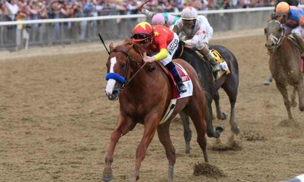 "Justify the ""next one,"" secures Triple Crown with Belmont win"
