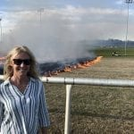 At Colonial Downs, the lighting – and passing – of the torch
