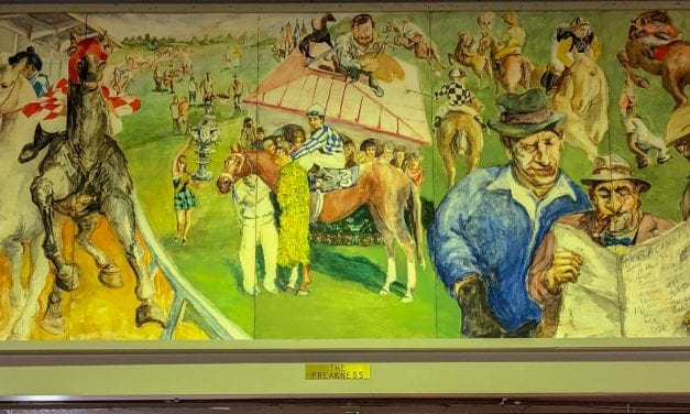 "At Pimlico ""idiosyncratic"" murals add ""flavor of racing"""