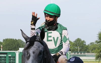 Ferrin Peterson climbing Monmouth jockey ranks