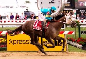 Governmentshutdown wins the Rollicking. Photo by Jim McCue, Maryland Jockey Club.