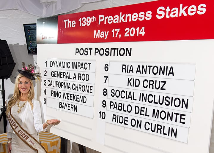 Preakness post positions drawn