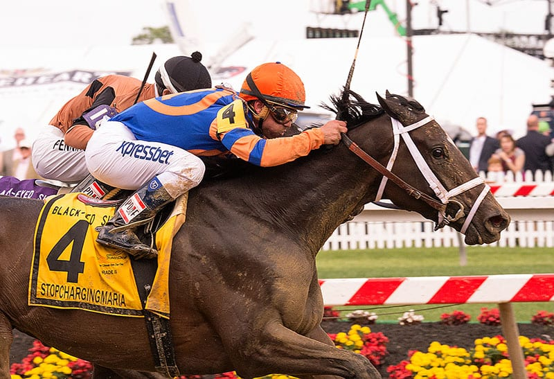 Stopchargingmaria doesn't, and wins Black-Eyed Susan Stakes