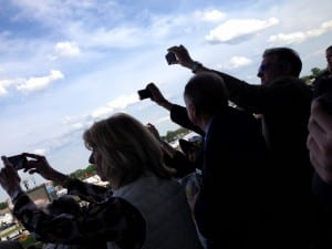 Cameraphones catch the start of the 139th Preakness.