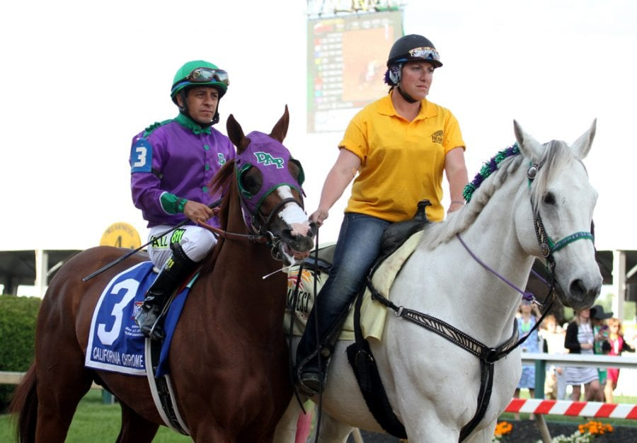 Preakness behind scenes: Photographer and pony girl